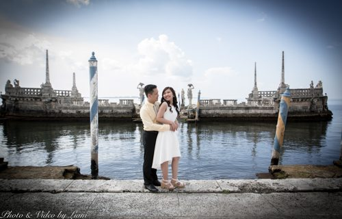 Vizcaya Miami engagement shoot